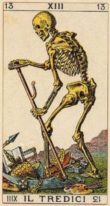 la morte dei tarocchi